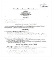 High School Resume Examples Pdf Listmachinepro Com