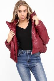 womens wet look cropped jackets coat las padded er bubble puffer short uk