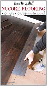 how to install nucore flooring no nails or glue required installs over most existing floors and