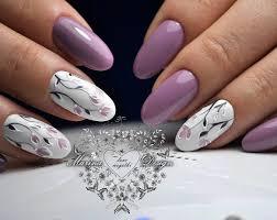 Flower nail art pink purple violet | Nails | Pinterest | Flower ...