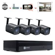 Anni 4CH DVR 1080N Video Security System 4PCS 1500TVL Weatherproof Outdoor Cameras Surveillance Kit, Free Amazon.com :