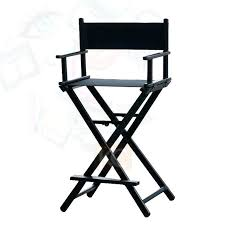 director stool folding aluminum director chair portable makeup chair silver black color available for option leather