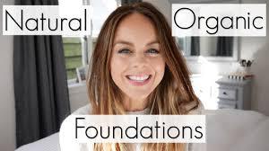 top 5 favourite natural organic foundations non toxic makeup brands