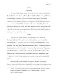 chicago style term paper autism autism 2 autism introduction the essay