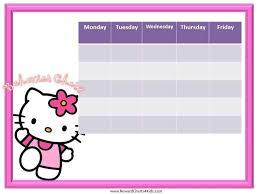 Hello Kitty Reward Chart Free Hello Kitty Behavior Chart