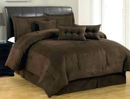 chocolate brown bedding sets brown bedding sets 7 solid brown comforter set micro suede queen size