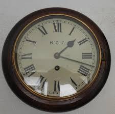 oak 8 inch dial fusee wall clock