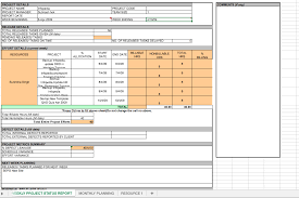 Project Progress Report Sample Weekly Project Status Report Template Excel Top Form