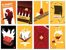 12 beautiful redesigned covers of literary clics fahrenheit 451 technically not a poster but still awesome