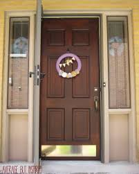 how to refinish an exterior door using gel stain