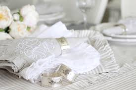 Table Setting In French Luxurious French Ruffle Table Linens Summer Adams
