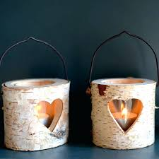 wall tea light holder natural bark by the forest co lights