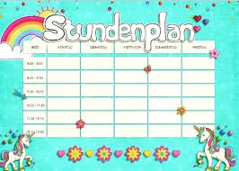 Cute Class Schedule Template School Timetable – Helenamontana.info