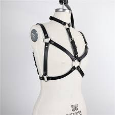 harness women leather harness belt adjust cage bra harajuku goth party club party festival top