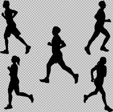 手绘跑步人物剪影免抠png透明图层素材设计元素素材免费下载图片编号