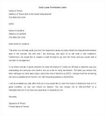 Rental Letter Template Termination Letters Template Stocky Me