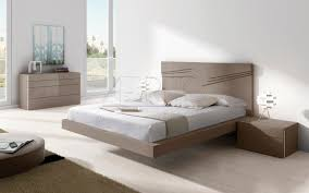Floating bed / double / contemporary / with headboard - ARIS PLUS : 28C