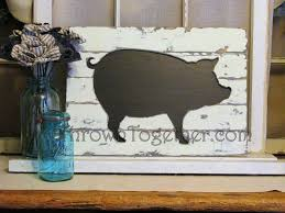 rustic farmhouse pig wall hanging handcrafted wood pig kitchen wall art rustic wood chalkboard pig sign gallerywall decor by throwntogether on etsy  on wooden pig wall art with rustic farmhouse pig wall hanging handcrafted wood pig kitchen wall