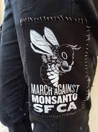 march against monsanto sf ca silk screened patch photo yi shan tan