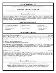 examples of nursing resumes and cover letters example er emergency room  nurse resume free sample