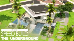 Houses Built Underground The Sims 4 Speed Build The Underground Youtube
