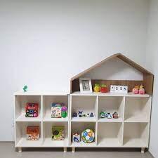 Kệ đồ chơi ngôi nhà trang trí phòng cho bé