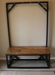 Entry Hall Bench With Coat Rack Entryway Bench And Coat Rack Mike Ferner 73