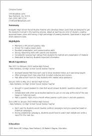Resume Templates: High School Social Studies Teacher