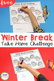 Children learn these concepts at their own pace. Free Winter Break Homework Editable Printable For Pre K Kindergarten