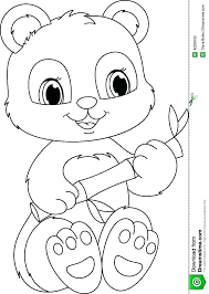 Panda Coloring Book Pages Children Giant Page Baby Cartoon For Free