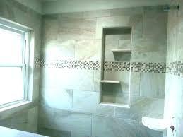 shower built in shelves bathroom creative tile shelf diy