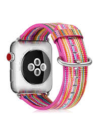 fintie for apple watch band 38mm leather replacement strap wrist bands stainless clasp apple watch series 4 3 2 1 rainbow com
