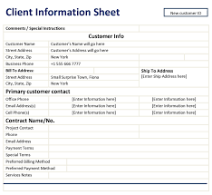 client information sheet template client information sheet template