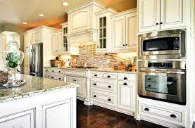 kitchen design white cabinets best cabinet with mosaic subway tile backsplash