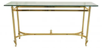 glass console table luxury brass console table with glass top having cookie corners bullnose