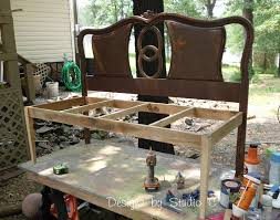 Bench Out Of Headboard Guest Post How To Build A Bench Using An Old Headboard Up To