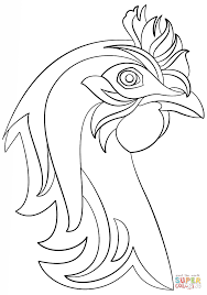 Small Picture Abstract Hen coloring page Free Printable Coloring Pages