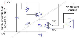 speaker protection circuit schematic electronic pinterest electrical schematic software at Electronic Circuit Schematic Diagrams