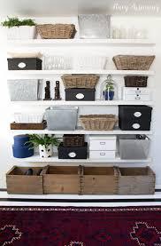 hey home office overhalul. Shelves Organized With Baskets And Bins Hey Home Office Overhalul A
