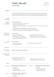 Trainee Engineer Resume Samples Templates Visualcv