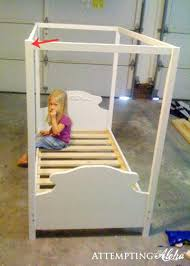 Canopy Beds For Toddlers Attractive Toddler Canopy Bed With White ...
