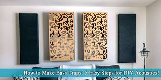 how to make bass traps 5 easy steps