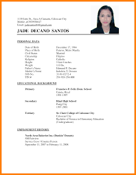 Sample Of Curriculum Vitae Adorable 48 Example Of Curriculum Vitae For Students Waa Mood