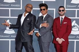 Philip Lawrence, Bruno Mars and Ari Levine at the Grammys - ABC News  (Australian Broadcasting Corporation)