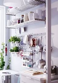 ... Ikea Kitchen Wall Storage System Fintorp Baskets Hooks Rails Cutlery  Caddy Pans Hooks And The O ...