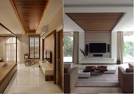 pop and wood can go hand in hand as well for a cozy atmosphere you can have a pop false ceiling design with wooden planks in the centre rather than just
