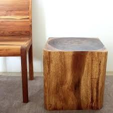 wood cube table walnut finish wood cube coffee table root cube teak wood side table