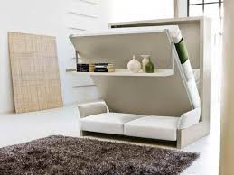 beautiful murphy bed desk plus white leather loveseat design idea fa07095db1c0e43046265136136