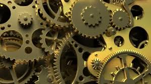 Video Gears Industrial Video Background Fantasy Golden Clockwork With Gears And