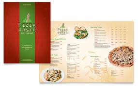 Restaurant Menu Design Templates Italian Pasta Restaurant Menu Template Word Publisher